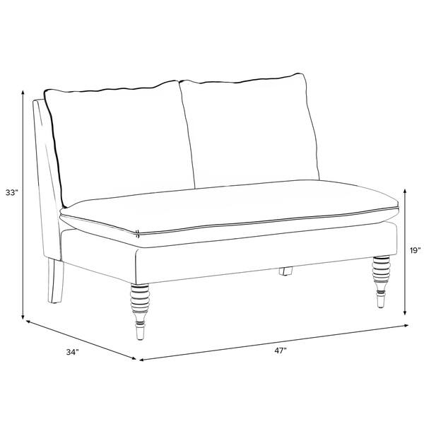 Miraculous Shop Skyline Furniture Birdwatcher Summer Armless Loveseat Spiritservingveterans Wood Chair Design Ideas Spiritservingveteransorg