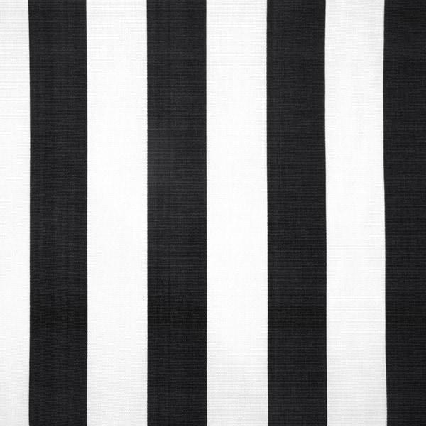 Skyline Furniture Square Canopy Stripe Black White Cocktail Ottoman