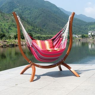 Patagonia Striped Wooden Chair Hammock