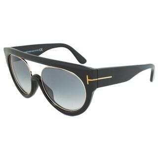 Tom Ford Alana Oval Women's Sunglasses FT0360 01B