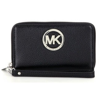 Michael Kors Leather Large Flat Multi-Function Phone Case