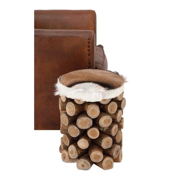 Tremendous Shop Urban Designs Hair On Hide Leather Rustic Wooden Log Dailytribune Chair Design For Home Dailytribuneorg
