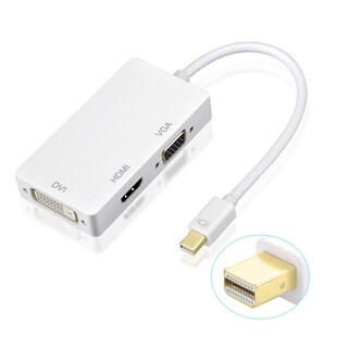 New Mini Display Port Thunderbolt to DVI VGA HDMI AdapterCable 3 in1 for Mac Book, iMac, Mac book Air, Mac book Pro
