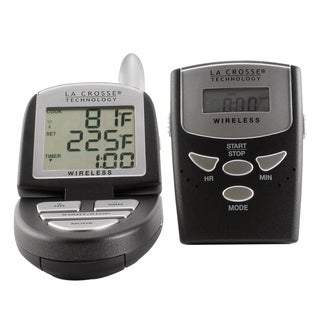 La Crosse Technology 922-818 Digital Cooking Thermometer with Stainless Steel Probe & Wireless Pager