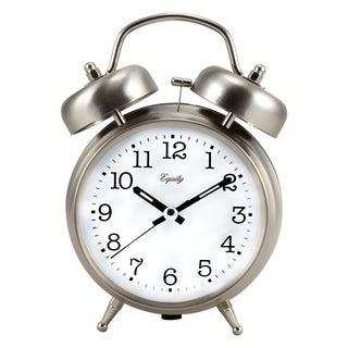 Equity by La Crosse 13017 Analog Twin Bell Quartz Alarm Clock