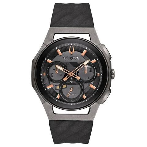 Bulova Men's Stainless Steel and Titanium Case CURV Collection 5 Hand Chronograph Watch
