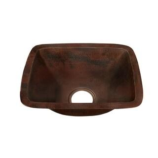 Novatto CORDOBA Antique-finish Copper Bar Sink
