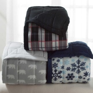 Winter Nights Microfleece Reversible Blankets