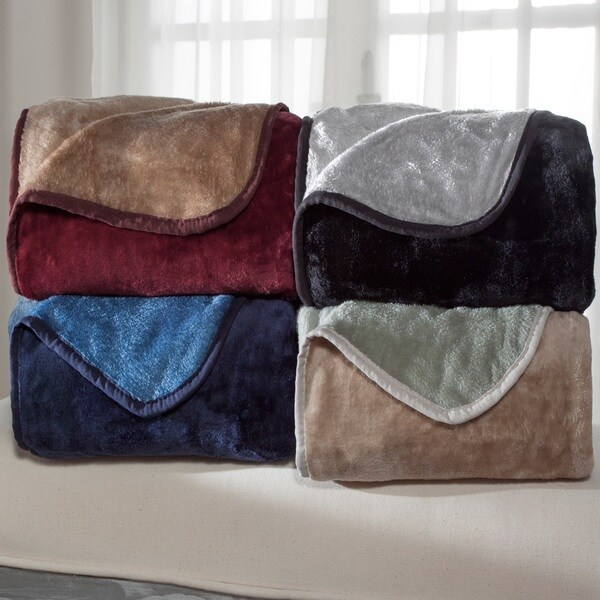 All Seasons Reversible Plush Blanket Or Throw Free Shipping On Orders Over 45