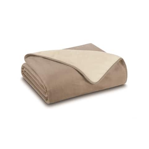All Seasons Reversible Plush Blanket or Throw