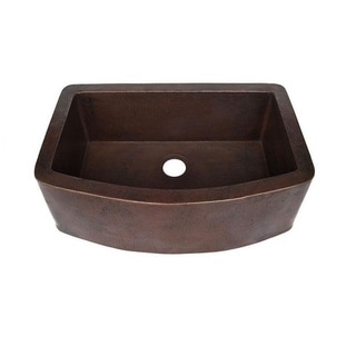 Novatto Redondeado Antique Copper Curved Kitchen Sink