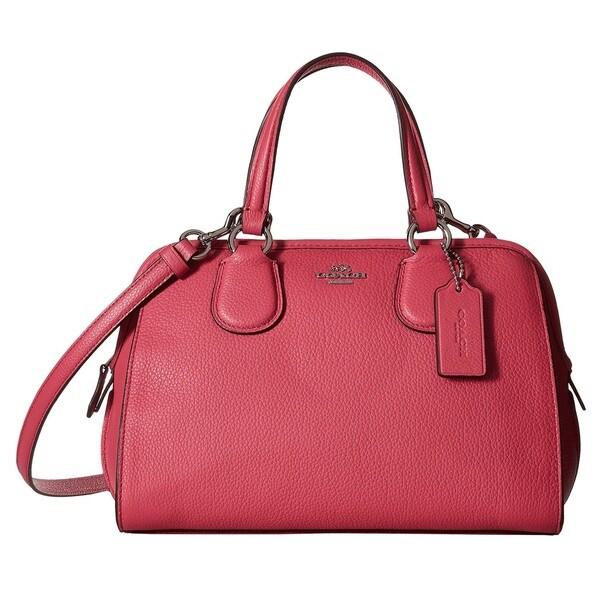 Coach Leather Mini Nolita Dahlia/Silver Satchel Handbag - Free ...