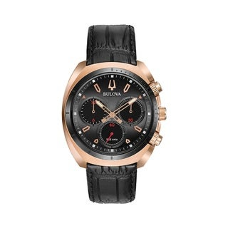 Bulova Men's 97A156 Stainless Steel and Titanium Rose Gold Tone CURV Collection 5 Hand Chronograph Watch
