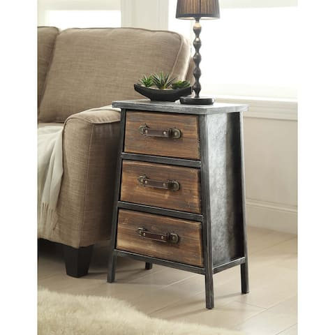 Carbon Loft Smith Industrial Style Metal and Wood 3-drawer Chest