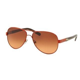 Tory Burch TY6010-308678 Aviator Brown Orange Gradient Sunglasses