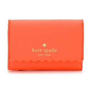 Kate Spade New York Cape Drive Darla Bright Papaya/Pink Blush Credit Card Holder