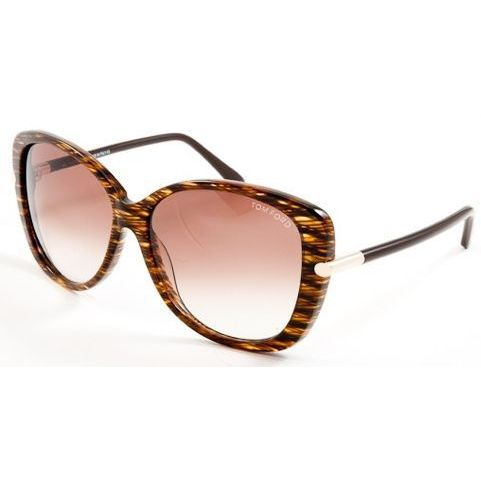 04737e72dbd Tom Ford TF0324-50F Oversized Brown Gradient Sunglasses - Free ...