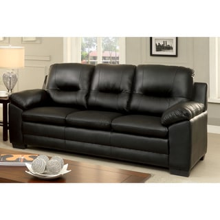 Furniture of America Morales Contemporary Plush Padded Leatherette Sofa