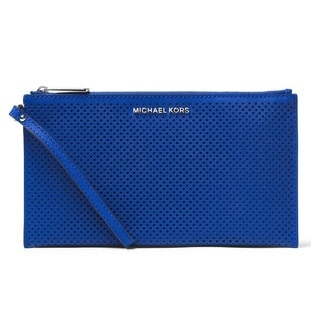 Michael Kors Jet Set Travel Large Electric Blue Zip Clutch