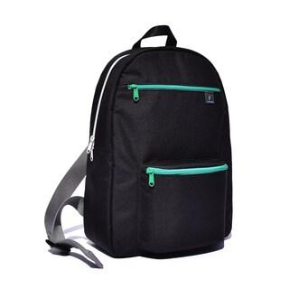 Fresco Zaino Giovanni Black Unique Design 14-inch Laptop Backpack