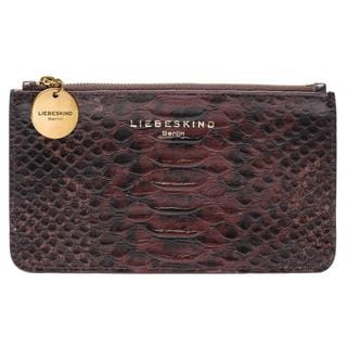 Liebeskind Berlin Balou Red Leather Snake-embossed Zipper Closure pouch