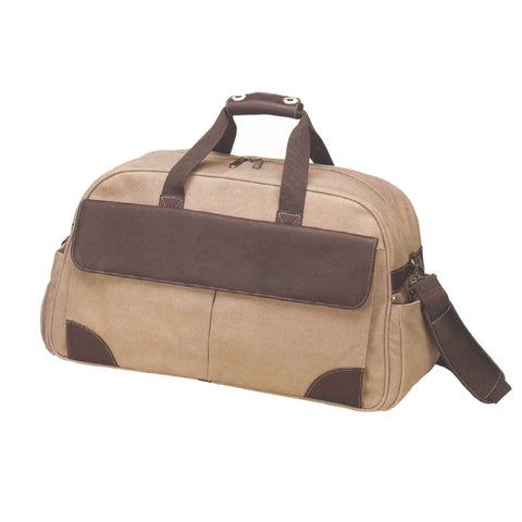 Goodhope Columbian Leather/Cotton Canvas Carry-on Duffel Bag