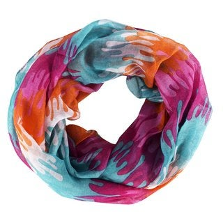 Link to Peach Couture Multicolored Polyester Abstract Artsy Paint Splatter Infinity Loop/Scarf/Wrap Similar Items in Scarves & Wraps