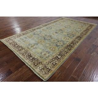 Hand-Knotted Oriental Peshawar Blue Wool Rug (6'0'x 10'10)
