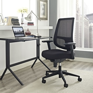 Pump Black Nylon and Mesh Office Chair