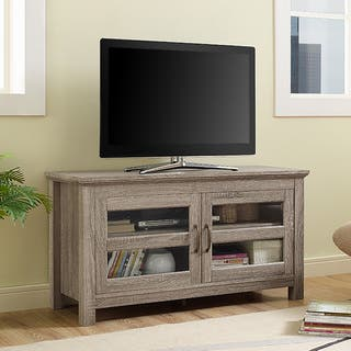 44-inch Wood TV Stand with Doors - Driftwood|https://ak1.ostkcdn.com/images/products/12495846/P19305000.jpg?impolicy=medium