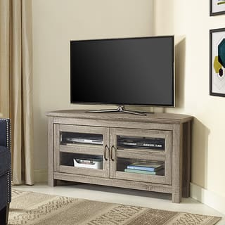 44-inch Wood Corner TV Stand - Driftwood|https://ak1.ostkcdn.com/images/products/12495851/P19305002.jpg?impolicy=medium