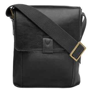Hidesign Aiden Unisex Leather Small Crossbody Messenger Bag