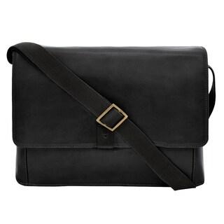 Hidesign Aiden Horizontal Leather Messenger Bag