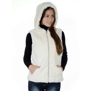 Women's Fashion Medium Length Faux Fur Jacquard Zip-up Winter Hooded Vest|https://ak1.ostkcdn.com/images/products/12495952/P19305037.jpg?impolicy=medium