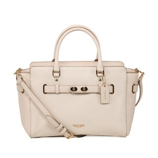 Coach Bubble Chalk Leather Blake Carryall