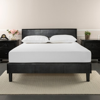 Priage by Zinus Faux Leather Upholstered Full-size Platform Bed