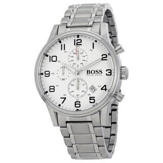 Hugo Boss Men's 1513182 Aeroliner White Watch