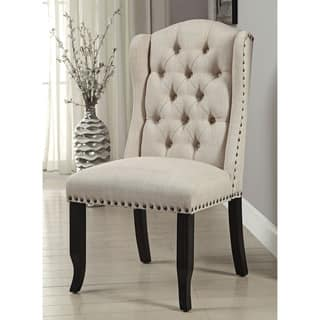 Furniture of America Telara Linen-like Tufted Wingback Dining Chair (Set of 2)|https://ak1.ostkcdn.com/images/products/12496009/P19305152.jpg?impolicy=medium