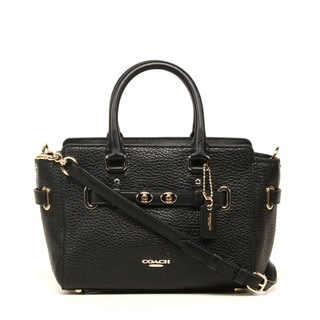 Coach Bubble Leather Black Blake Mini Carryall