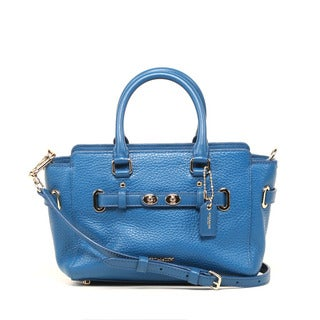 Coach Bubble Leather Bright Mineral Blake Mini Carryall