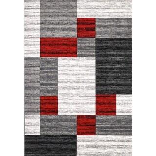Nida Grey Polypropylene Area Rug (8' x 11')