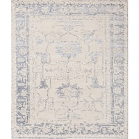 Silk Fusion Beige Bamboo Silk/Wool Hand-Knotted Rug (5' x 8')