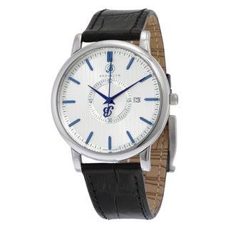 Brooklyn Watch Co. Quartz Watch with Slim Black Leather Strap