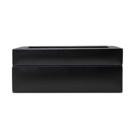 Wolf Heritage Black Leather 8-piece Watch Box