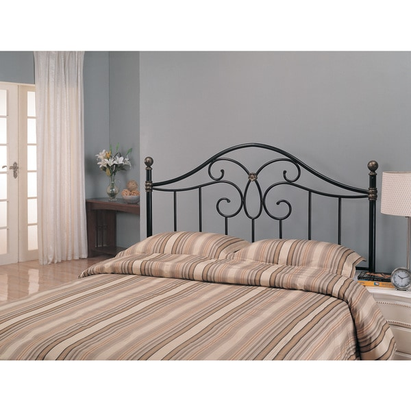 c44adc44ae732c Shop Coaster Company Black and Bronze Butterfly Wrought Metal Headboard ( Full-Queen Size Bed) - Free Shipping Today - Overstock - 12496156