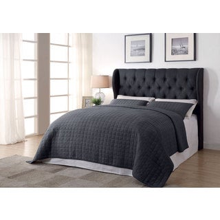 Coaster Company Grey Upholstered Tufted Headboard