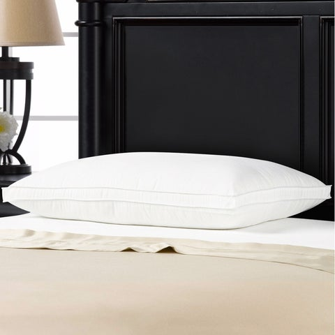 Ella Jayne Hotel Collection Soft Luxury Plush Gusseted Soft Gel Filled Stomach Sleeper Pillow - White