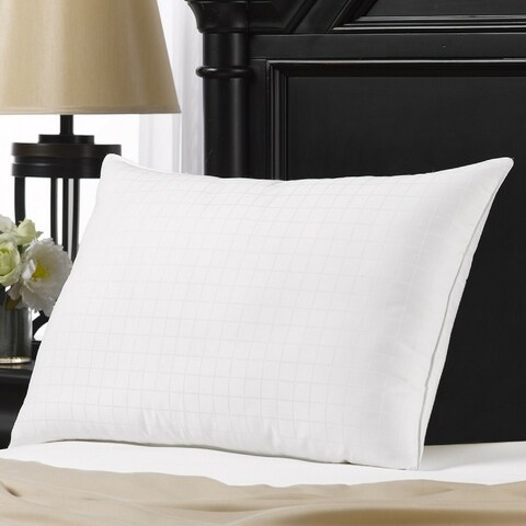 Hotel Luxe Down-Alternative Gel Fiber Filled Soft Pillow - Best for Stomach Sleepers - White