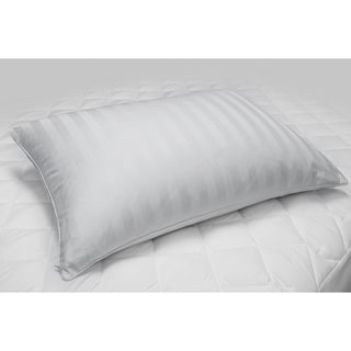 Hotel Grand Down Pillow With 300 Thread Count Zippered Cover - White