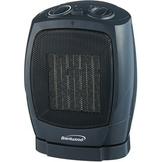 Brentwood Black Ceramic Oscillationg Heater